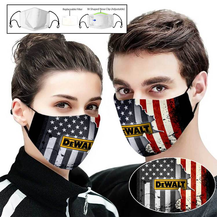 Hot trend Dewalt american flag full printing face mask