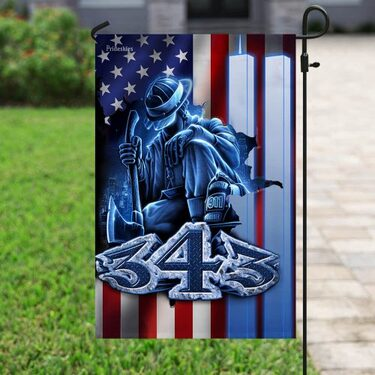 firefighter 343 never forget september 11th flag