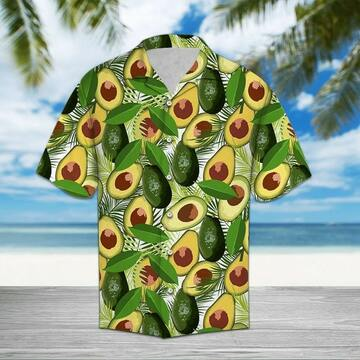 tropical avocado all over printed hawaiian shirt