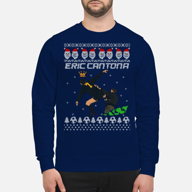 Eric Cantona Kung Fu Kick Christmas Sweater