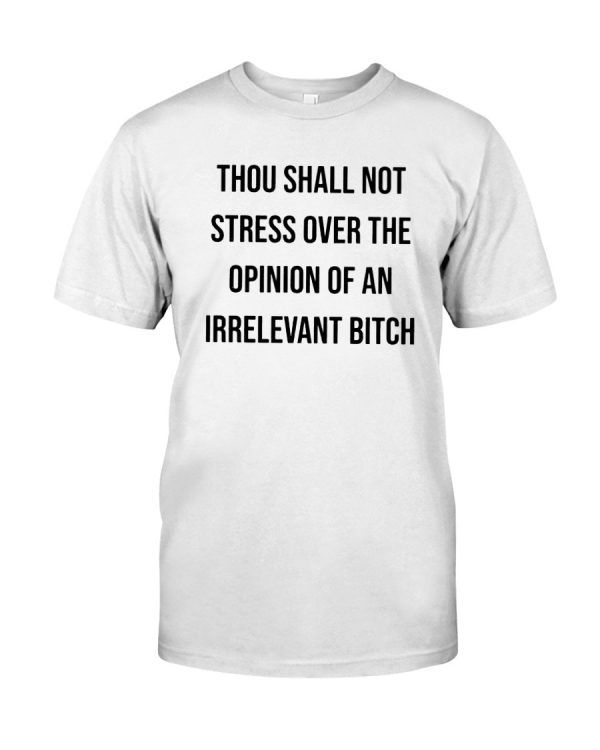 Great Thou shall not stress over the opinion of shirt