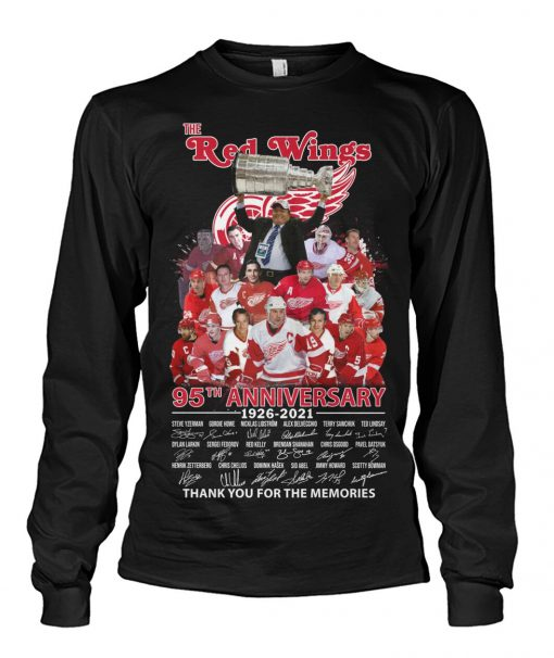 The Red Wings 95th Anniversary signatures shirt, tank top, hoodie