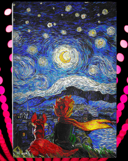 Little Price and fox starry night poster2