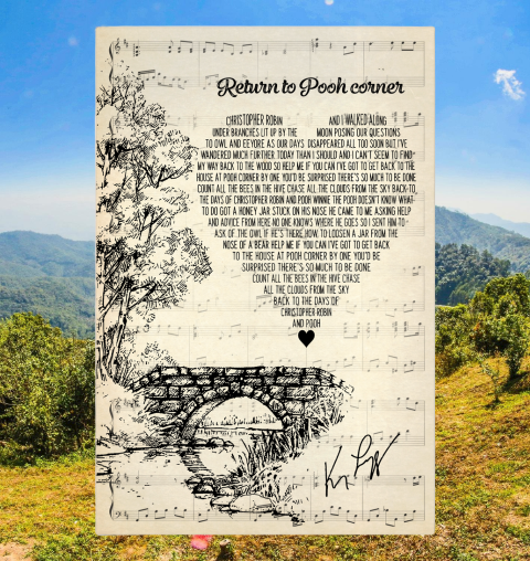 Return to pooh corner lyrics poster1