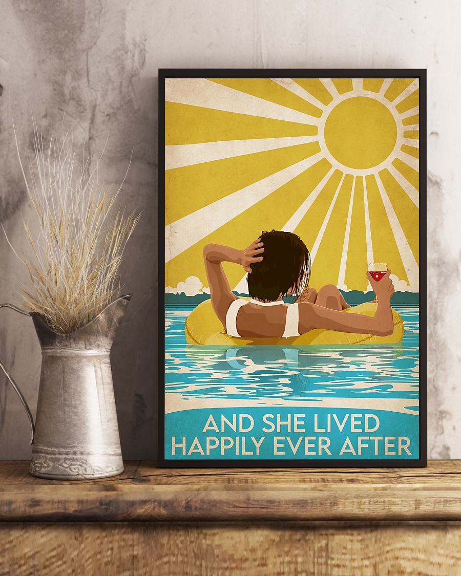 Swimming Short Brown Hair And She Lived Happily Ever After Poster2