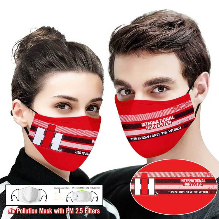 Hot trend International harvester this is how i save the world full printing face mask