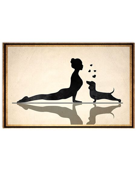 Limited edition dachshund and yoga vintage poster