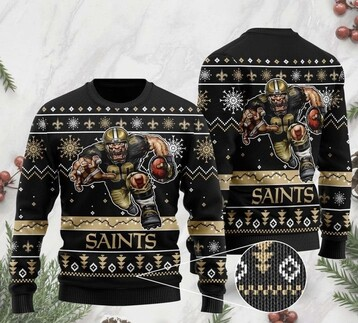 Limited edition the new orleans saints football team christmas ugly sweater