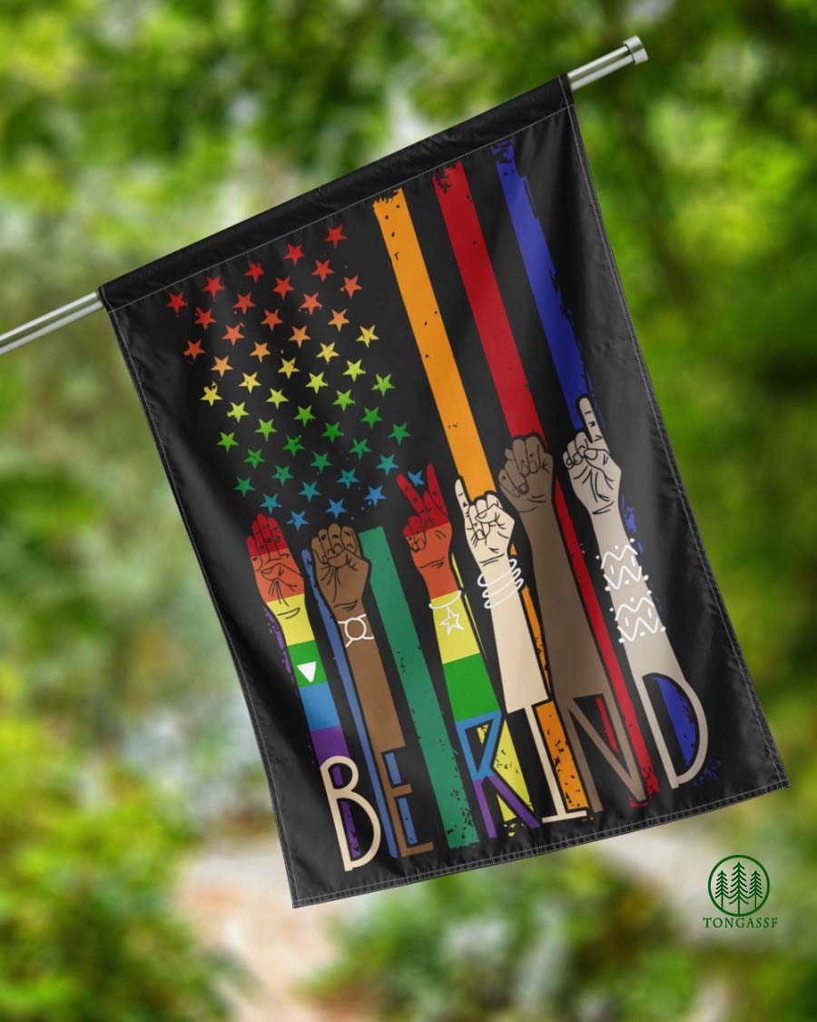 TongassF Be Kind American House Flag