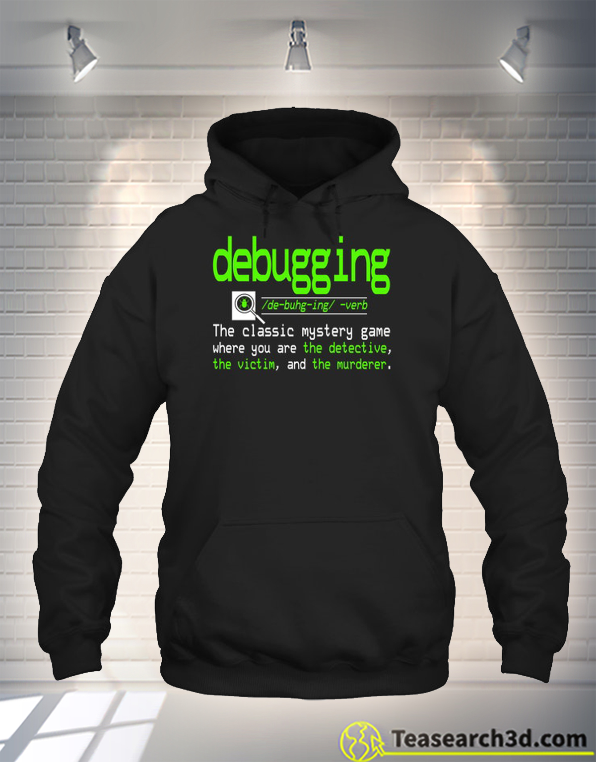 Debugging definition the classic mystery game t-shirt